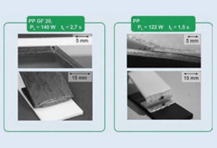 Laserdurchstrahlschweißen unter Zusatz von Nukleierungsmittel geschäumten thermoplastischen Spritzgießteilen