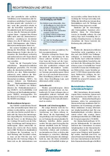 Ausgabe 1 (2001) Seite 20