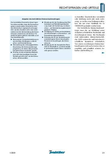 Ausgabe 1 (2001) Seite 21