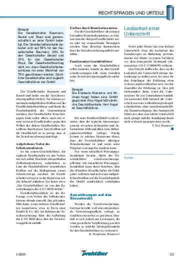 Ausgabe 1 (2001) Seite 23