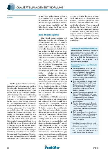 Ausgabe 1 (2001) Seite 30