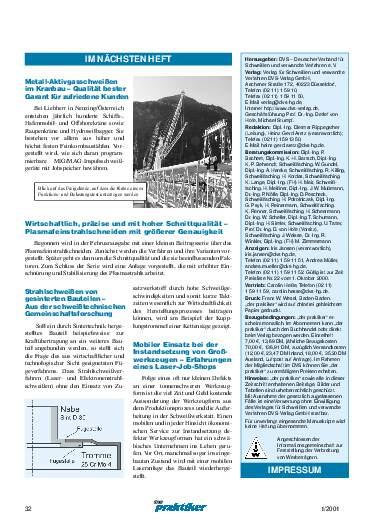 Ausgabe 1 (2001) Seite 32