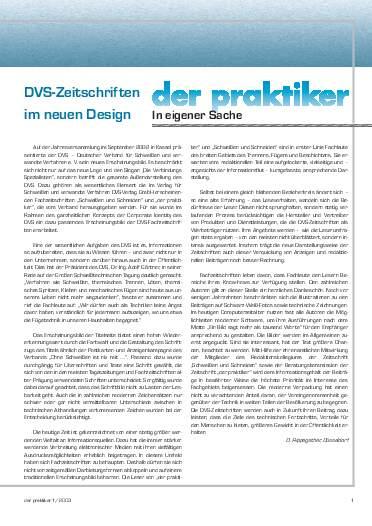Ausgabe 1 (2003) Seite 1