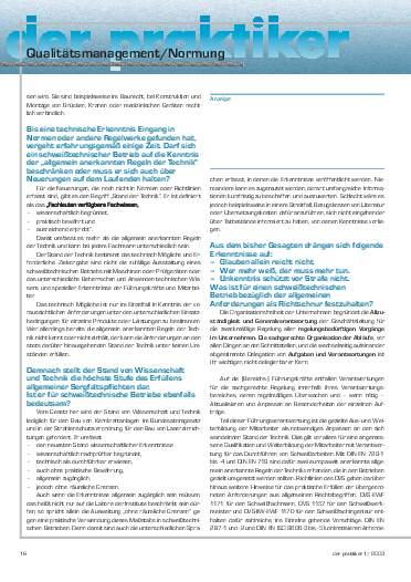 Ausgabe 1 (2003) Seite 16