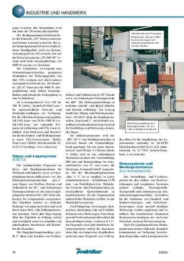Ausgabe 2 (2001) Seite 74
