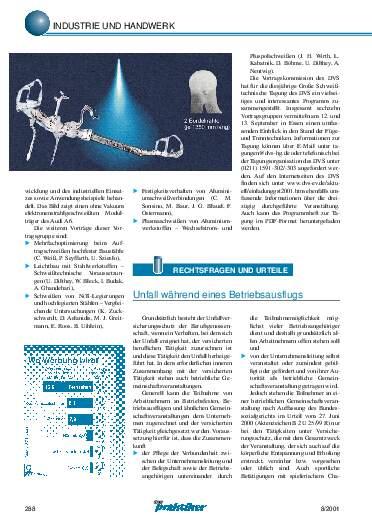 Ausgabe 8 (2001) Seite 288