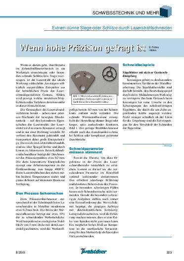Ausgabe 8 (2001) Seite 323