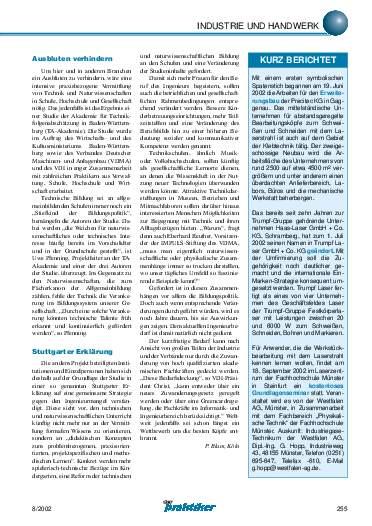 Ausgabe 8 (2002) Seite 255