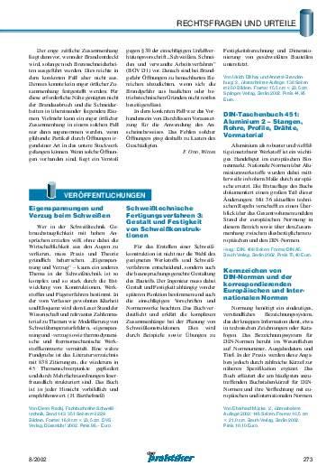 Ausgabe 8 (2002) Seite 273