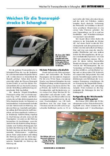 Ausgabe 12 (2001) Seite 773