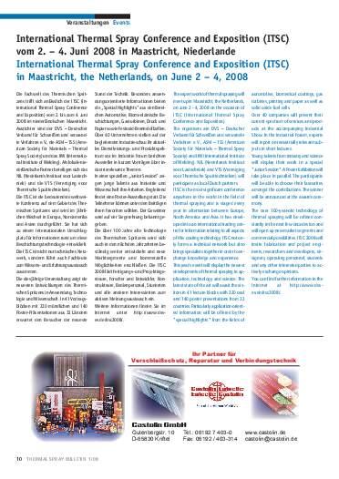 Ausgabe 1 (2008) Jahrgang 1 Seite 10