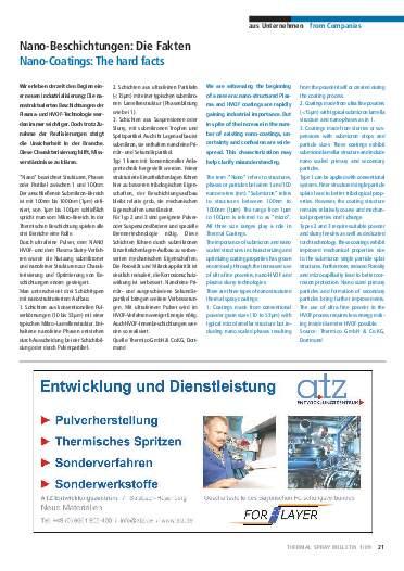 Ausgabe 1 (2009) Jahrgang 2 Page 21
