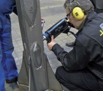 In der Praxis bewährt: Instandhaltung und Reparatur von Schweißkonstruktionen durch höherfrequentes Hämmern