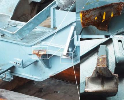 Besser durchschweißen: Schadensanalyse an einer gebrochenen Schweißkonstruktion am Drehgestellrahmen eines Triebwagens