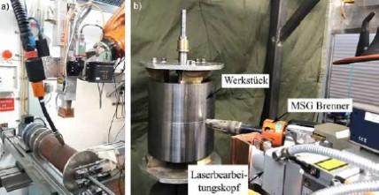 Verfahren zum fehlerfreien Laserstrahl-MSG-Hybridschweißen geschlossener Rundnähte