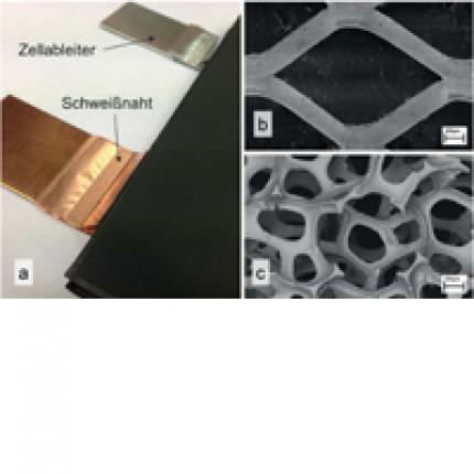 Metall-Ultraschallschweißen dreidimensional gestalteter Stromableiter zur Herstellung innovativer Lithiumionen- Batteriezellen
