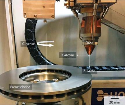 Bremsscheiben laserbasiert beschichten