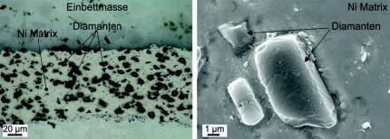 Herstellung von Diamant-Metall-Verbundbeschichtungenmittels thermischer Spritzverfahren